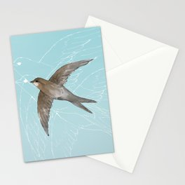 Common Swift in the air Stationery Cards