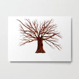 Tree illustration  Metal Print