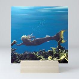 Mermaid - Blue Lagoon Mini Art Print