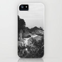 B&W McWay Falls, CA iPhone Case