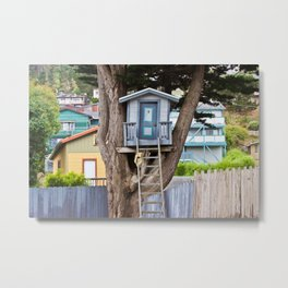 House on the Tree Metal Print