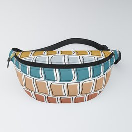 Squiggly rectangles Fanny Pack