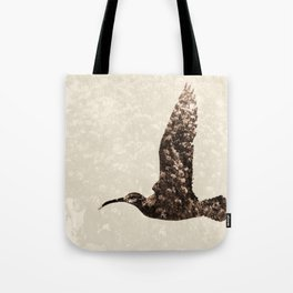Bird integrated with flowers Tote Bag