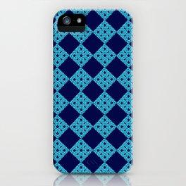 blue crochet crafts iPhone Case