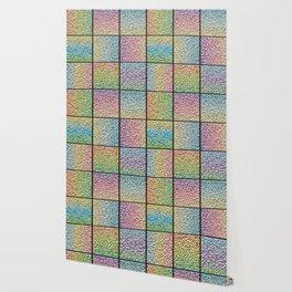 Pastel Rainbow Chrome Tiles Wallpaper