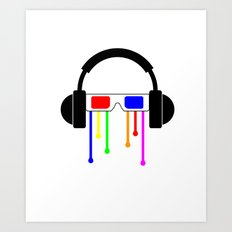 Technicolor tears  Art Print