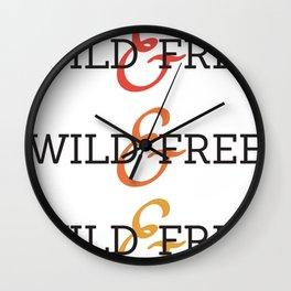 Wild and Free Fade Wall Clock