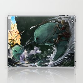 A Narwhal Joust for the Ages Laptop & iPad Skin