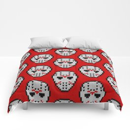 Knitted Jason hockey mask pattern Comforters