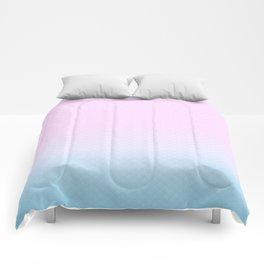 Cute Mermaid pink and blue Comforters