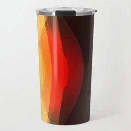 Warm Retro Abstract Travel Mug