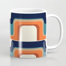 Mid-Century Modern Meets 1970s Orange & Blue Coffee Mug