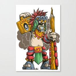 Pencil Warrior Canvas Print