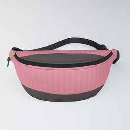 Simple brown pink stripes Fanny Pack
