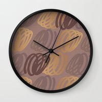 calligraphy Wall Clocks featuring Calligraphy 4 by Johs
