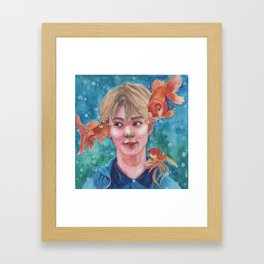 Just Keep Swimming (Nautical Dreams of Innocence) Framed Art Print
