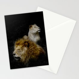 Pride - Lioness and Lion Couple Goals Stationery Cards