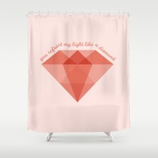 Refract My Light  Shower Curtain