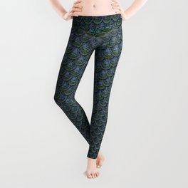 Light Blue Mermaid Scales Leggings