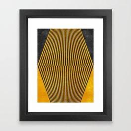 Geometric Soul Mates Framed Art Print