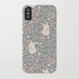 Sleeping Fox - grey iPhone Case
