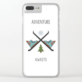 Adventure Awaits - Ski Clear iPhone Case
