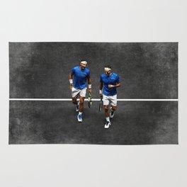 Nadal and Federer Doubles Rug