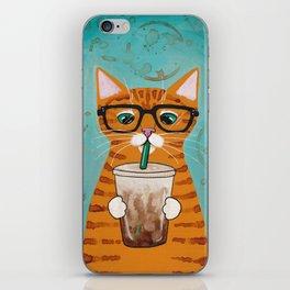 Iced Coffee Cat iPhone Skin