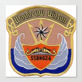 USS WOODROW WILSON (SSBN-624) PATCH Canvas Print