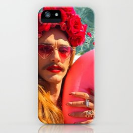 Selfies By The Pool James Franco Fan Art iPhone Case