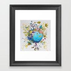 the swamp planet Framed Art Print