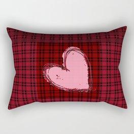 Heart on Flannel Rectangular Pillow