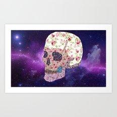 Liberty Skull Art Print