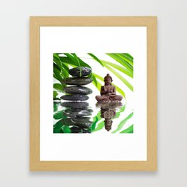 Buddha Relaxing  Framed Art Print