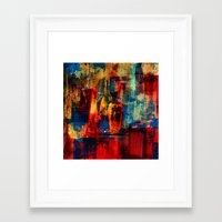 bar Framed Art Prints featuring bar by agnes Trachet