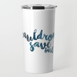 A Court of Mist and Fury- Cauldron Save Me (Plain Blue) Travel Mug