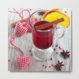Fine Spice Christmas Punch Metal Print