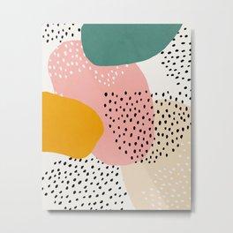 Abstract, Mid century modern kids wall art, Nursery room Metal Print
