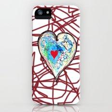 scribble heart Slim Case iPhone (5, 5s)