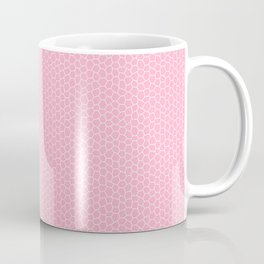 Pink and White Mosaic Coffee Mug
