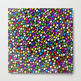 Bubble GUM Colorful Balls Metal Print