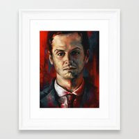 moriarty Framed Art Prints featuring James Moriarty by Alice X. Zhang