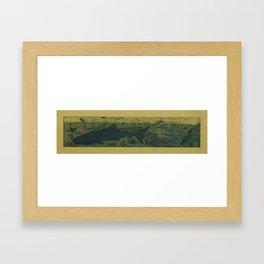 Sea Life Etching - Sepia Framed Art Print