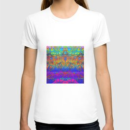 Bright Rainbow Colored Half Mandala Design T-shirt