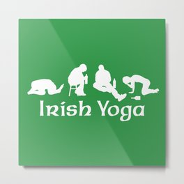 Irish Yoga Metal Print