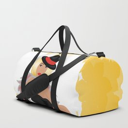 Beautiful cabaret girl with background Duffle Bag