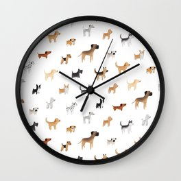 Lots of Cute Doggos Wall Clock