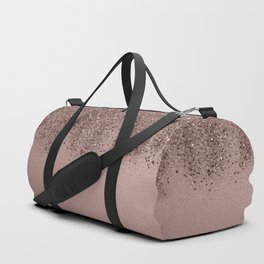 Sparkling Rose Gold Blush Glitter #3 (Photography) #shiny #decor #art #society6 Duffle Bag