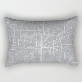 Tallahassee Map, Florida USA - Pewter Rectangular Pillow