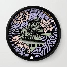 Kyoto Manhole Sewer Cover Wall Clock
